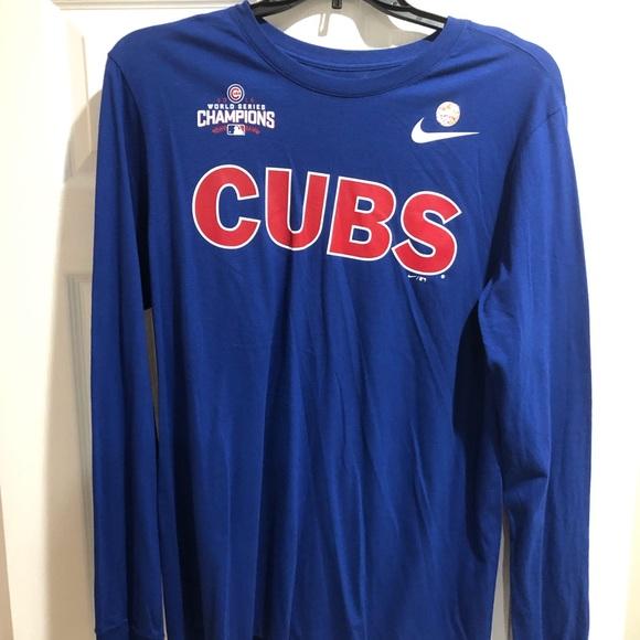 4188f129 Nike Shirts | Mens Chicago Cubs World Series T Shirt Large | Poshmark